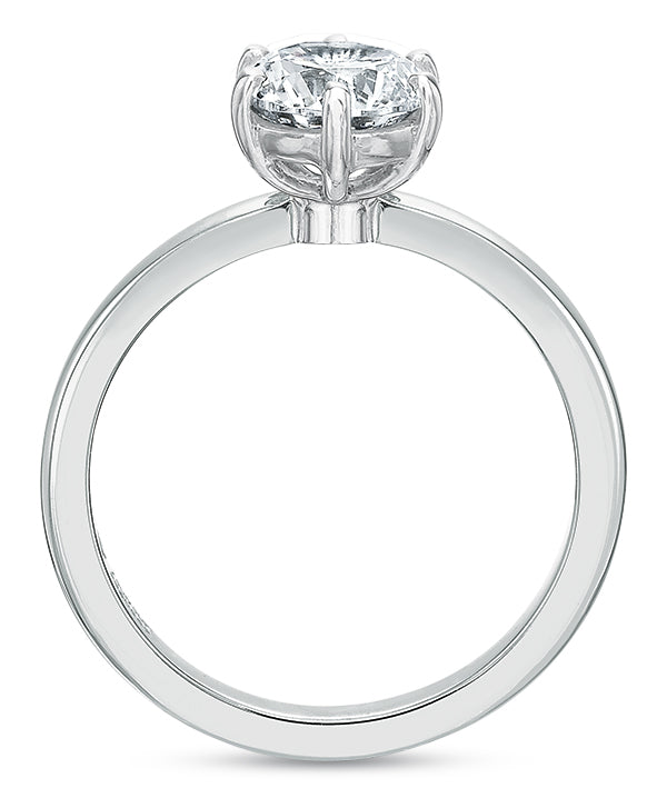 Precision Set Six-Prong Engagement Ring