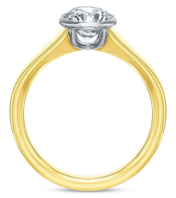 Precision Set Bezel Set Solitaire Diamond Engagement Ring