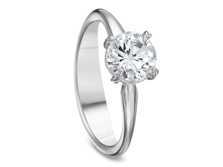 Precision Set Silk Solitaire Ring