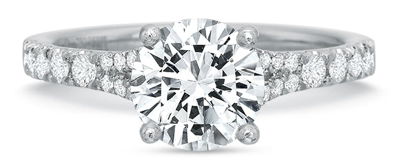 Precision Set 2413 14k White Gold Engagement Ring