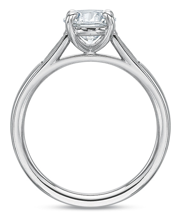Precision Set New Aire 2416 14k White Gold Engagement Ring