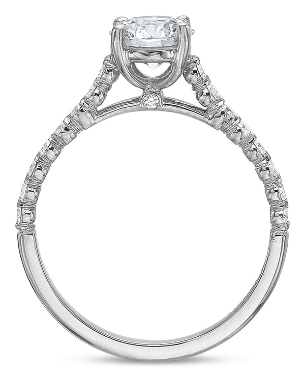 Precision Set 2420 14k White Gold Engagement Ring
