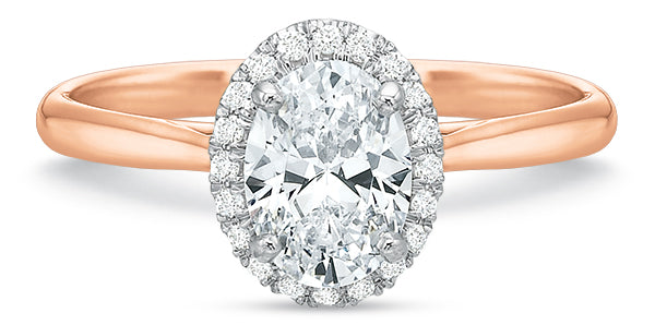 Precision Set New Aire Oval Halo Engagement Ring