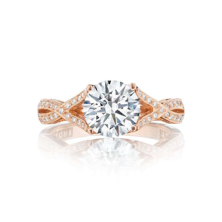 Tacori 'Ribbon' 7mm Round Engagement Ring