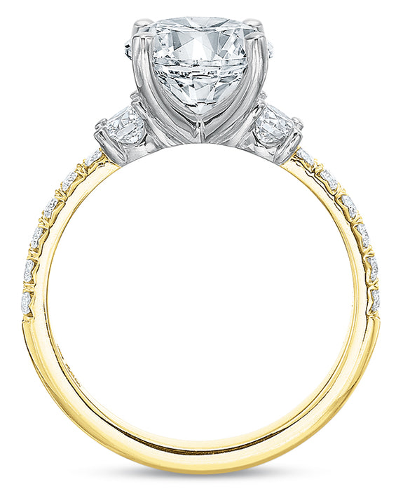 Precision Set 2570 14k Yellow Engagement Ring