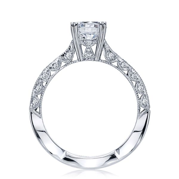 Tacori Classic Crescent 18k White Gold Engagment Ring