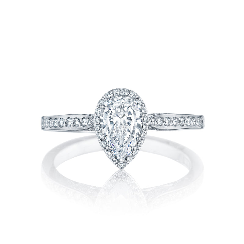 Tacori 'Dantela' 8x5mm Pear Halo Engagement Ring