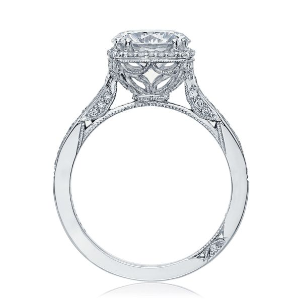 Tacori 2620 Dantela 18k White Gold Engagement Ring