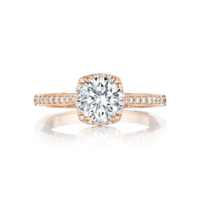 Tacori 2620 Dantela 18k Rose Gold Engagement Ring