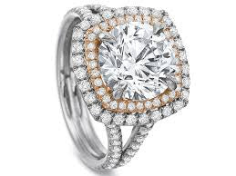 Precision Set Two Tone Halo Semi Mount Ring