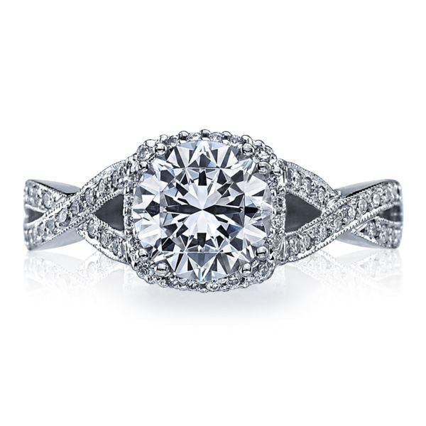 Tacori 'Dantela' Cushion Halo Engagement Ring