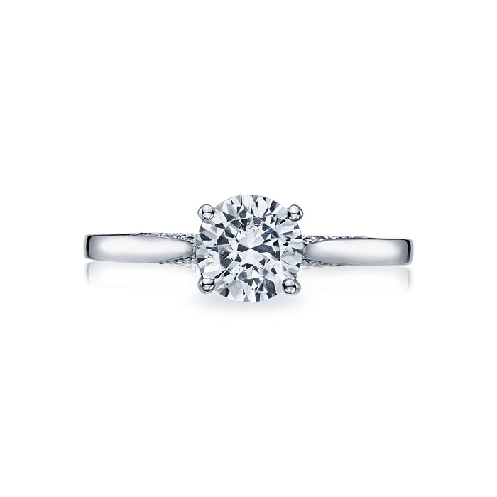 Tacori 'Dantela' 5.5mm Round Engagement Ring