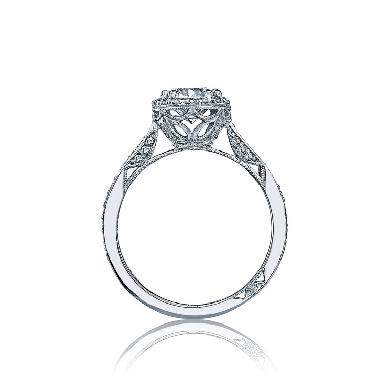 Tacori 'Dantela' 6.5mm Round Halo Engagement Ring