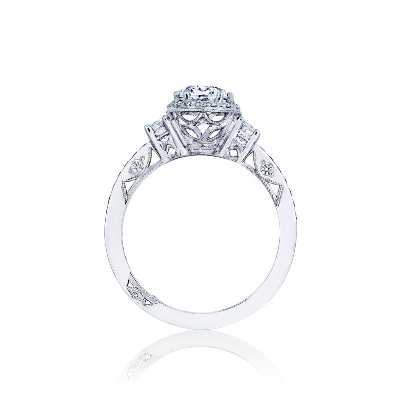 Tacori 'Dantela' 8x6mm Oval Halo Engagement Ring