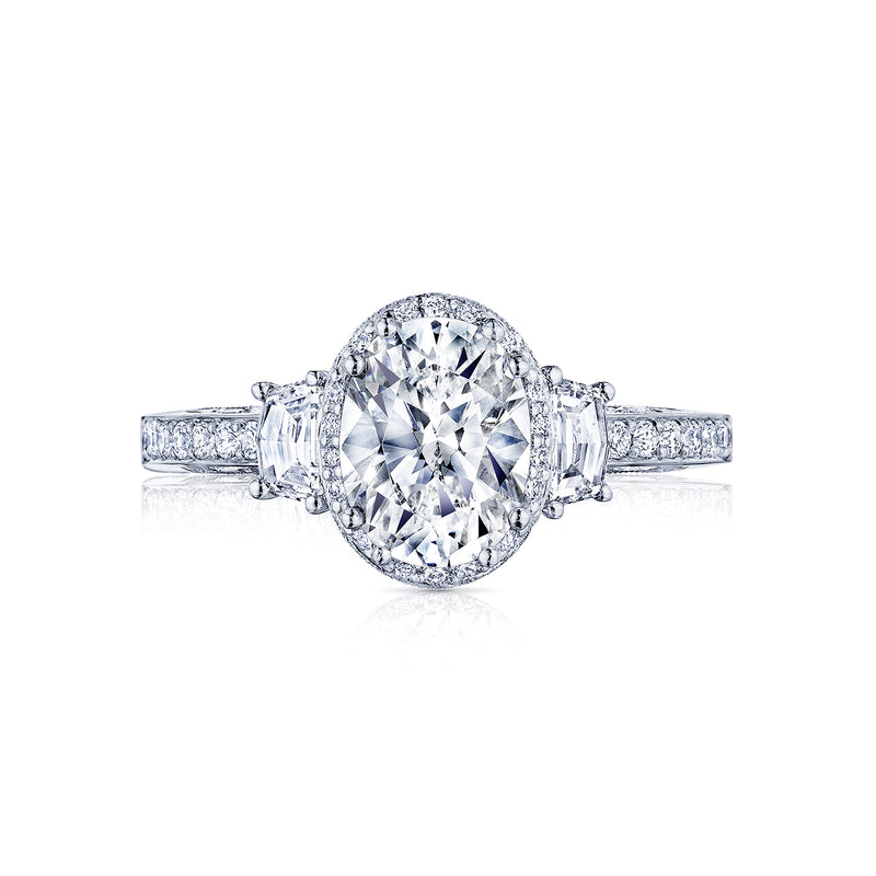 Tacori Dantela 8x6mm Oval Halo Engagement Ring 2663 Ov Brent L Miller