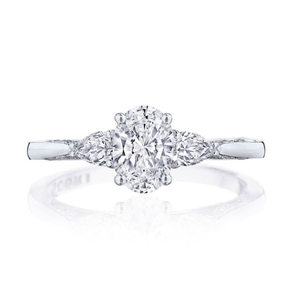 Tacori 'Simply Tacori' 18k White Gold Engagement Ring with Oval Semi-Mount