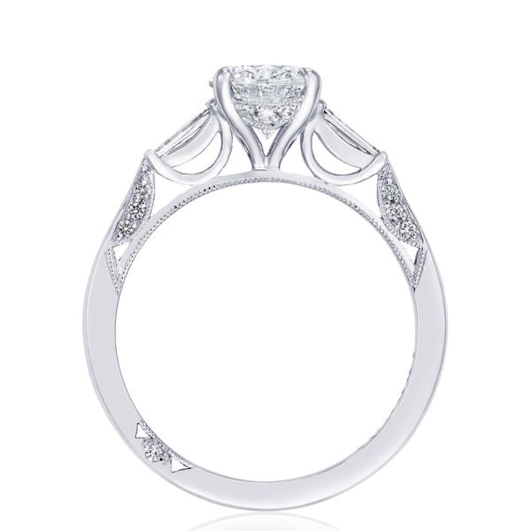 Tacori 'Simply Tacori' Oval Semi-mount Engagement Ring with Baguettes