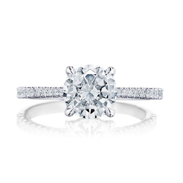 Tacori 'Simply Tacori' 18k White Gold Round Semi-Mount Engagement Ring