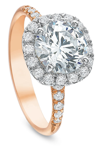 Precision Set 2690 18k Rose Gold Engagement Ring