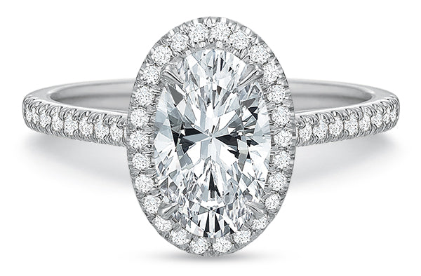 Precision Set New Aire Petite Halo Engagement Ring
