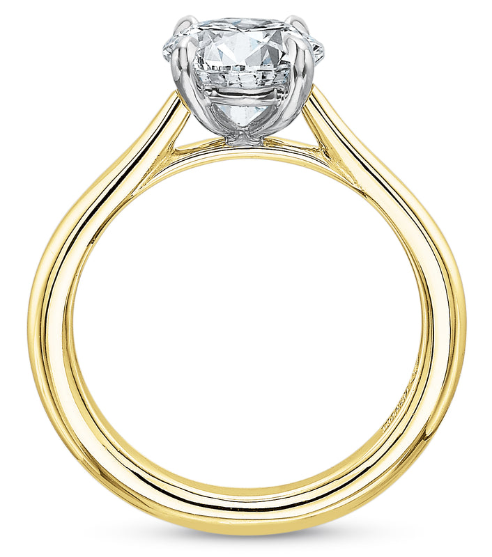 Precision Set New Aire 2920 14k Yellow Gold Engagement Ring