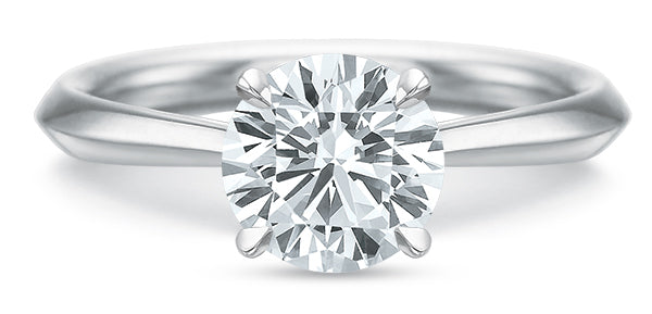 Precision Set 2930 14k White Gold Solitaire Engagement Ring
