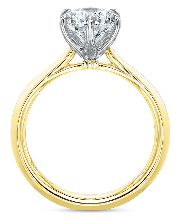 Precision Set 2960 14k Yellow Gold Engagement Ring with Six Prongs