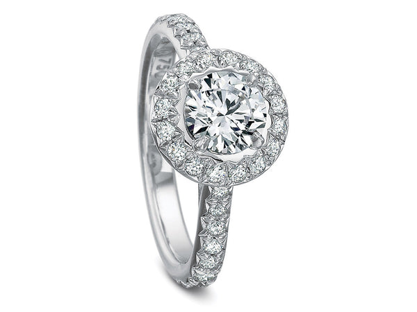 Precision Set New Aire Diamond French Cut Halo Top Ring
