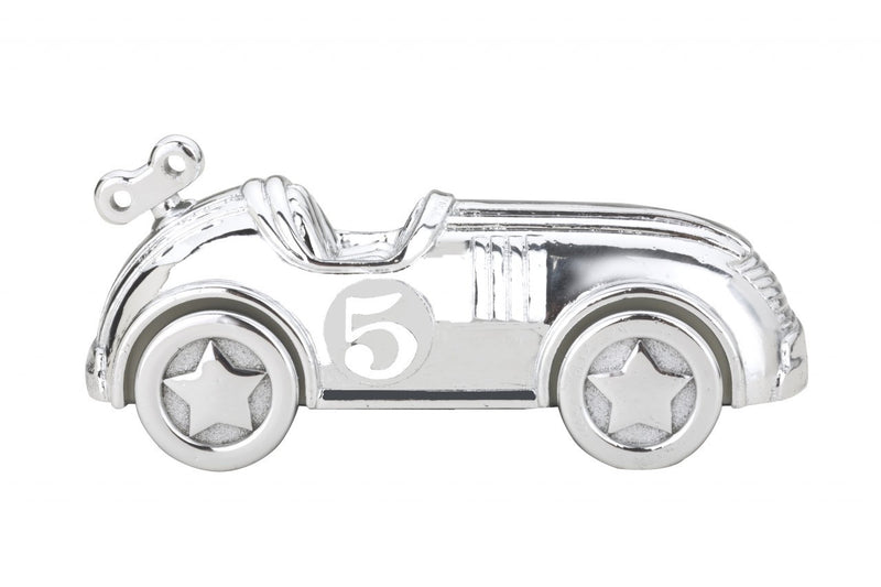 Reed & Barton Race Car Silverplate Coin Bank