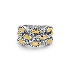 Charles Krypell Two-Tone Firefly Triple Band Ring