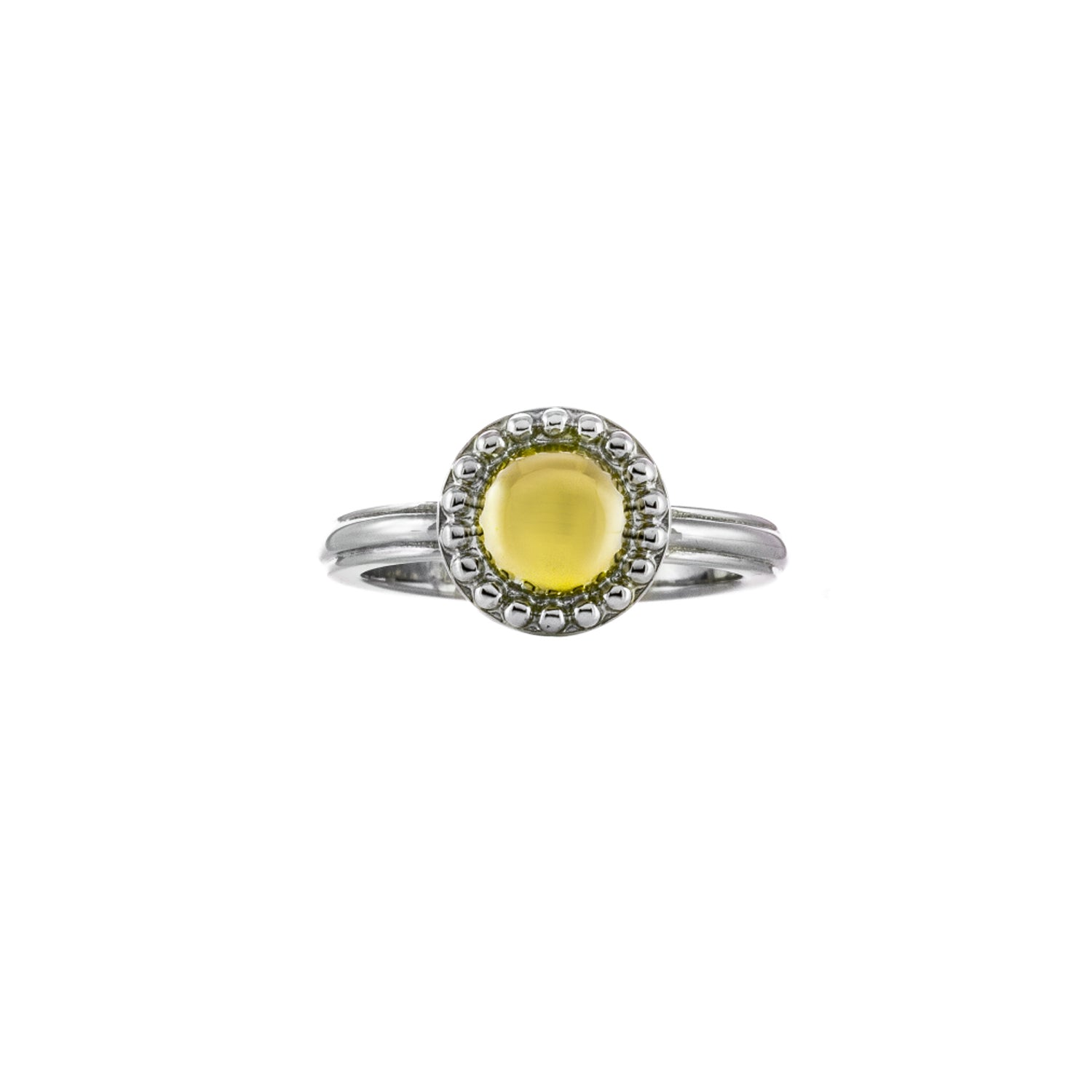 Charles Krypell Firefly Two-Tone Ring with Yellow Gold