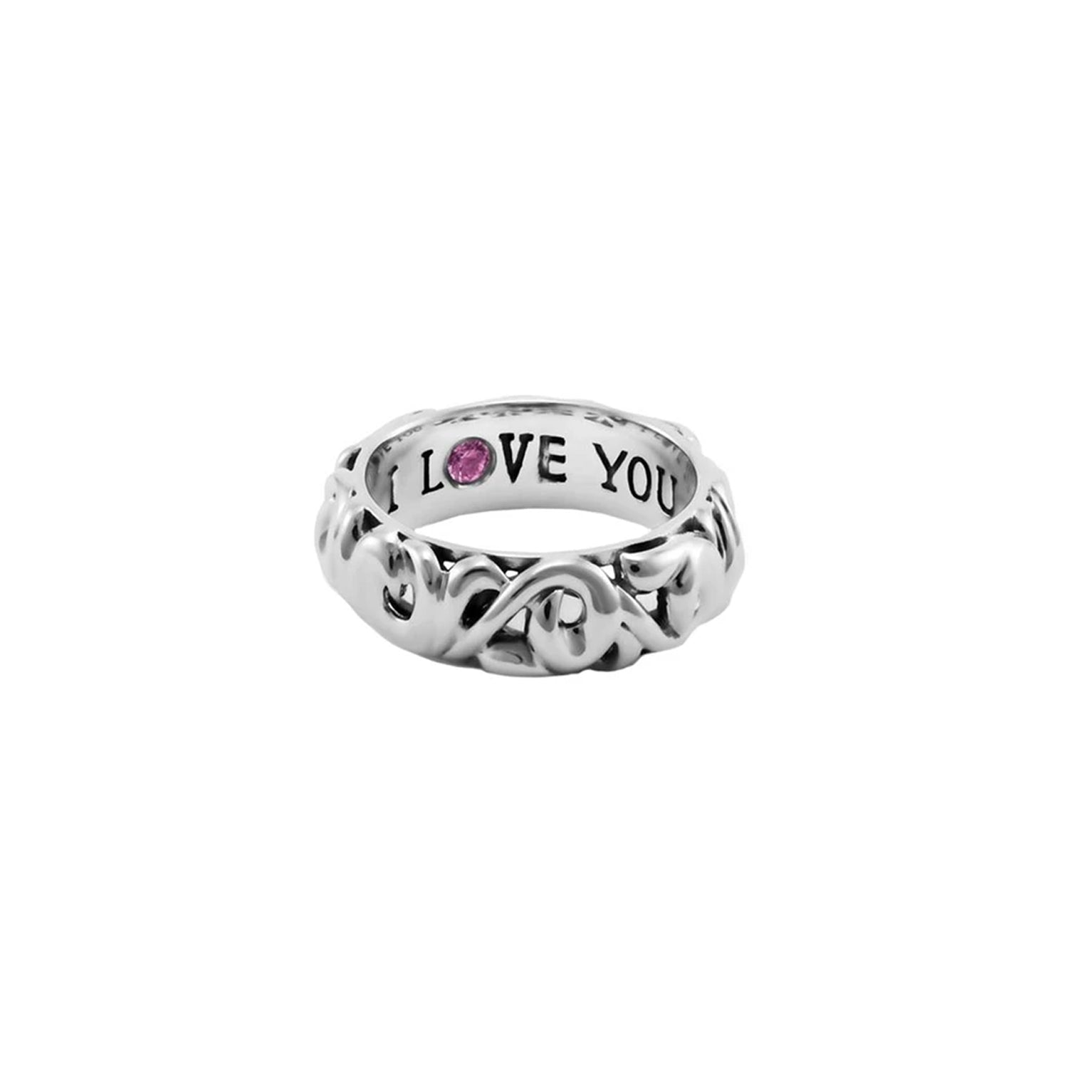 Charles Krypell 'I Love You' Sterling Silver Ring