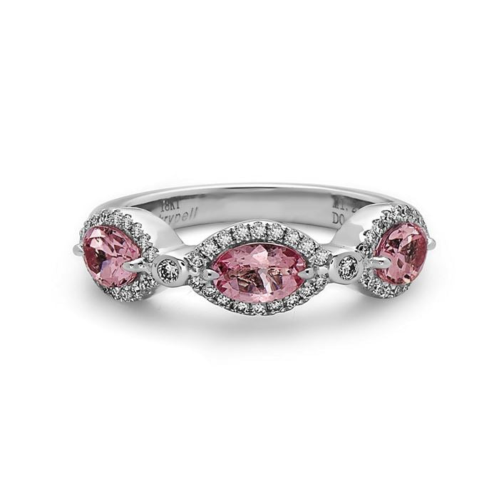 Charles Krypell Morganite and Diamond Band