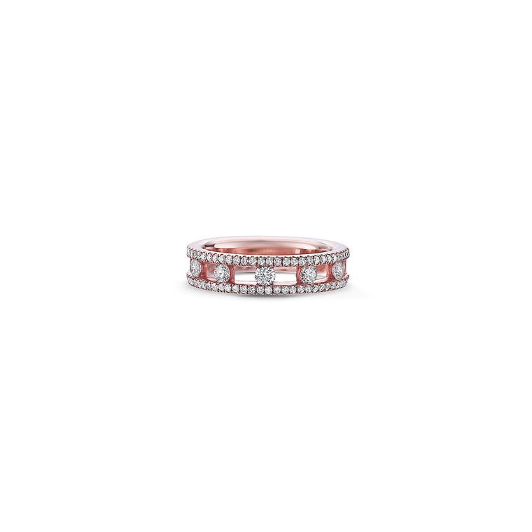 Charles Krypell 18k White Gold Ring with Diamonds