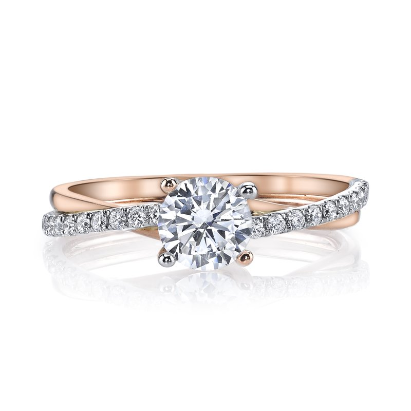 MARS Two Tone Twisted Diamond Shank Engagement Ring