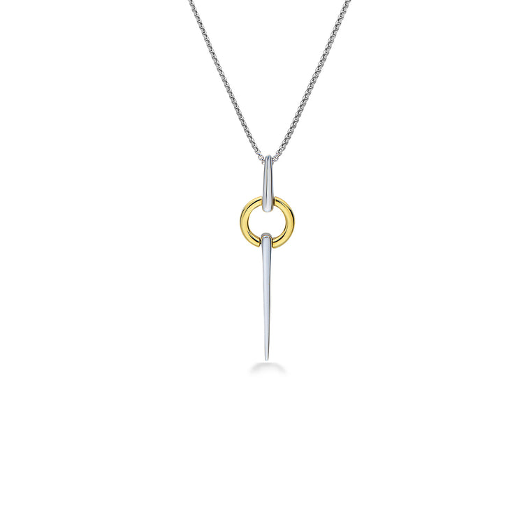 Charles Krypell Circular Spear Pendant Necklace