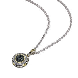 Charles Krypell TT Round Pave Necklace