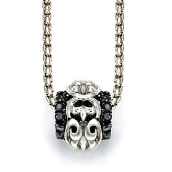 Charles Krypell Ivy Barrel Necklace with Black Sapphires