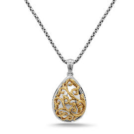 Charles Kypell Pear Shaped Ivy Lace Pendant