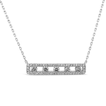 Charles Krypell Air Bar Diamond Necklace
