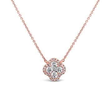 Charles Krypell Clover Diamond Necklace
