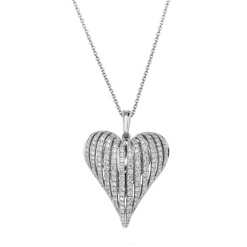 Charles Krypell Angel Heart Diamond Necklace