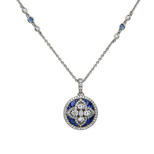 Charles Krypell Circle Necklace with Diamonds