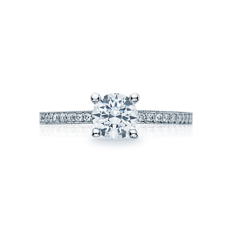 Tacori 'Sculpted Crescent' Round Engagement Ring