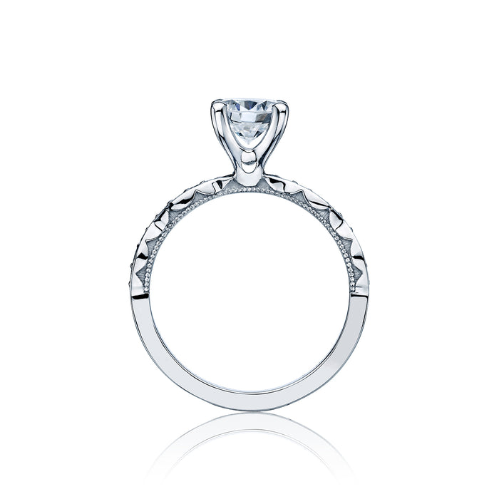 Tacori 'Sculpted Crescent' 5.5mm Round Engagement Ring