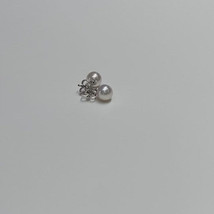 Mikimoto 7mm Stud Earrings in White Gold (A+)