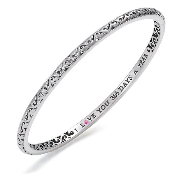 "Charles Krypell ""I Love You 365 Days a Year"" Bangle"