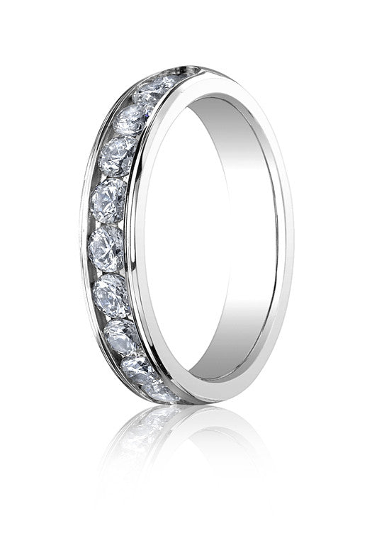 Benchmark 4mm 0.96tw Channel Set Diamond Wedding Band In 14K White Gold