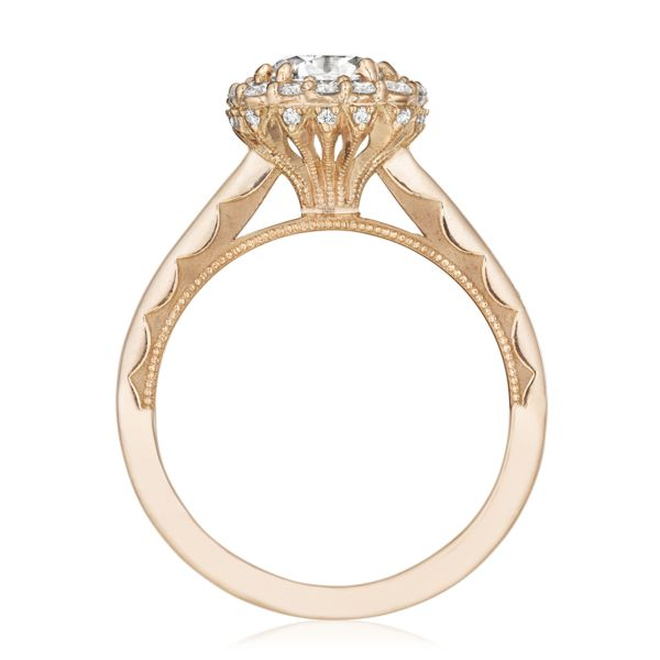 Tacori 'Full Bloom' 18k Rose Gold Cushion Halo Engagement Ring