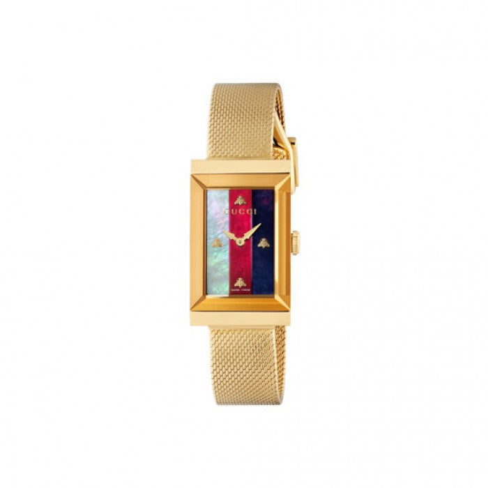 Gucci G-Frame 34mm Watch with Tri-color Dial